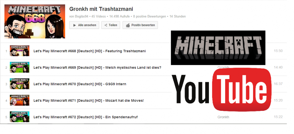 Uhr YouTubeTipp Gronkh Und Trashtazmani Minecraft Lets Play - Youtube minecraft deutsch spielen